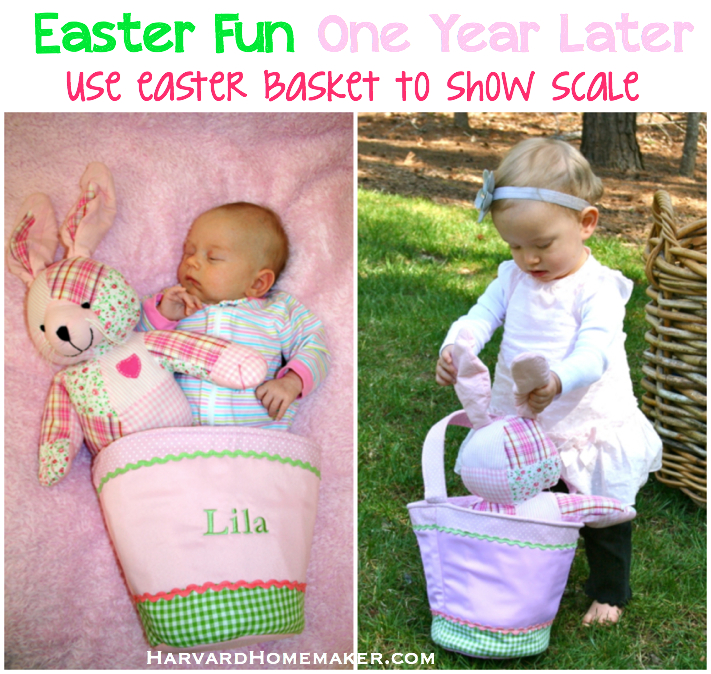 Baby's First Easter - Use Basket to Show Scale One Year Later