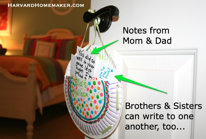 Doorknob Mailboxes_Notes for whole family