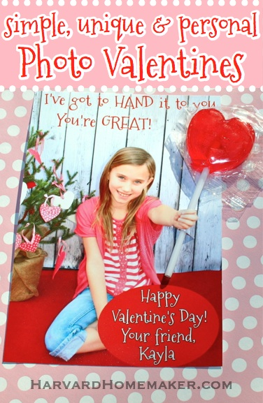 Simple Unique Personal Photo Valentines