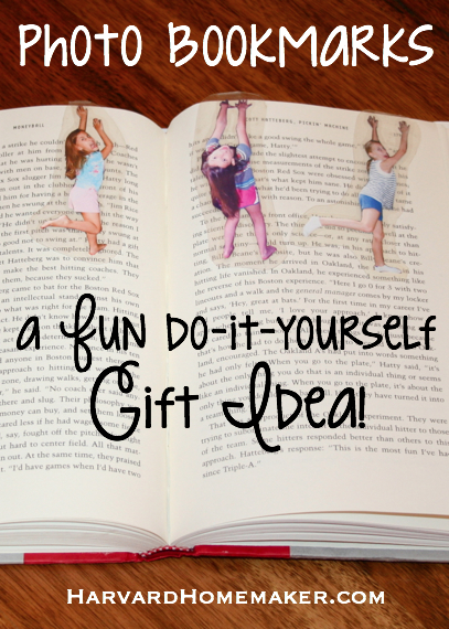 Fun Photo Bookmarks by Harvard Homemaker