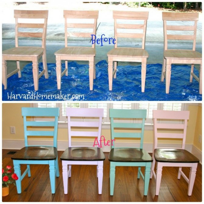 Diy painted chairs with stained seats let your kids help harvard diy painted chairs with stained seats let your kids help harvard homemaker solutioingenieria