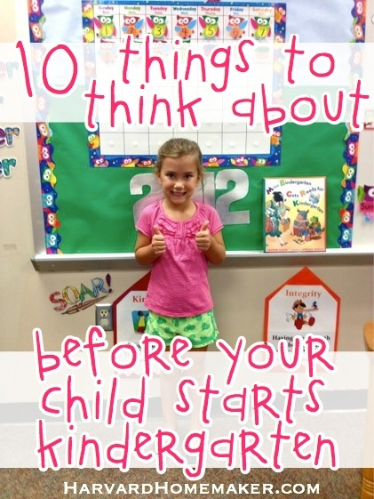 Tips on Your Child Starting Kindergarten