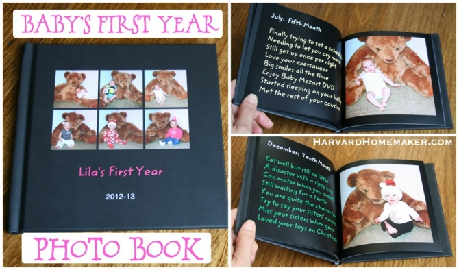 Babys First Year Photo Book A Special Birthday Gift For Your Child