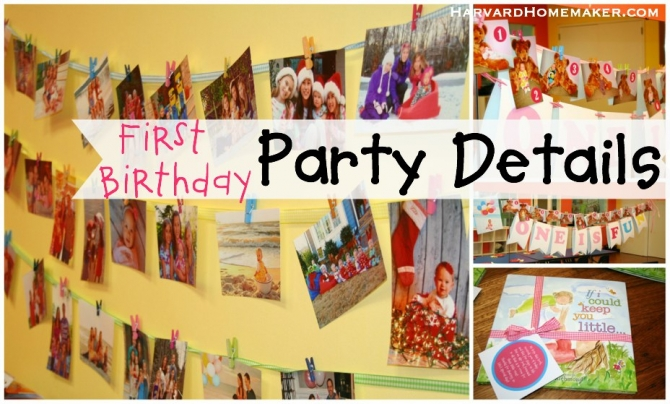 First Birthday Party Ideas Details Decorations Harvard Homemaker