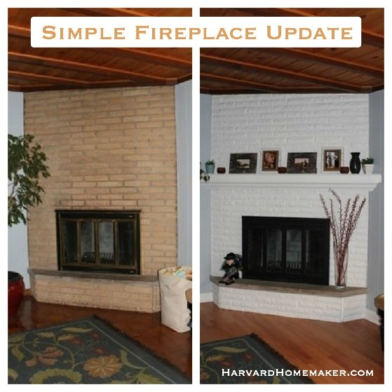 This simple fireplace update will transform the look of your home in an instant! Just some paint and a mantle. What a difference!