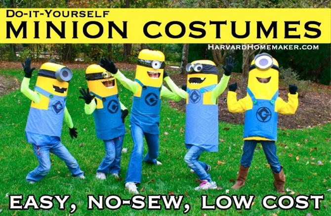 5a572abfbe4 Easy No-Sew DIY Minion Costumes - Harvard Homemaker