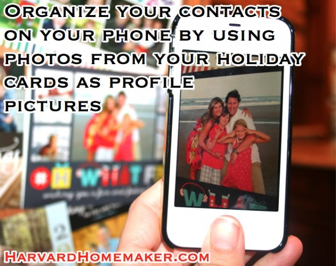 holiday pictures to organize contacts