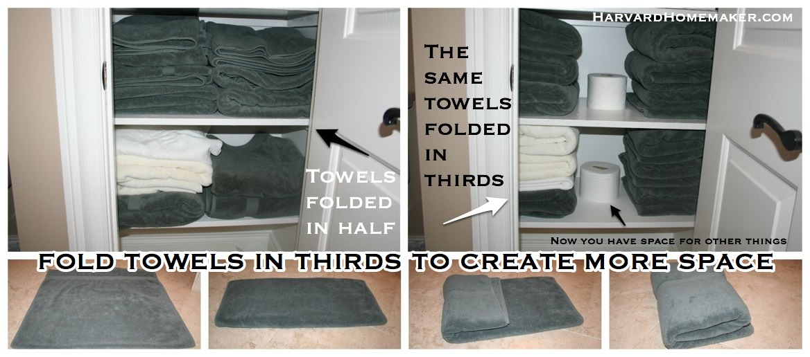 Fold Towels in Thirds