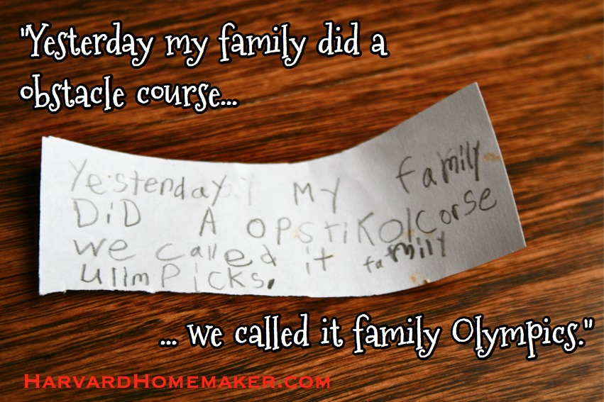 Happy Jar Family Olympics