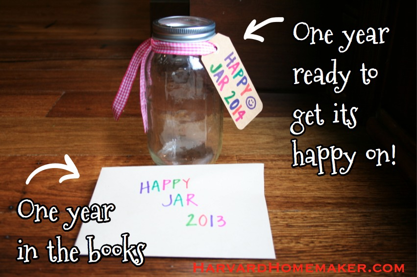 Happy Jar one year down one ready to go