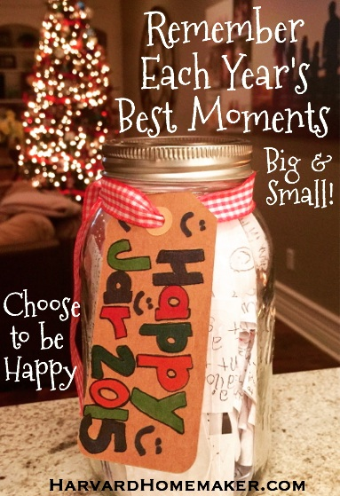 Happy Jar - Choose to be Happy Each Year!