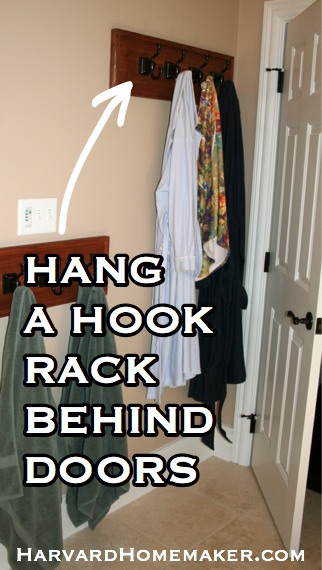 Hook Rack Behind Doors