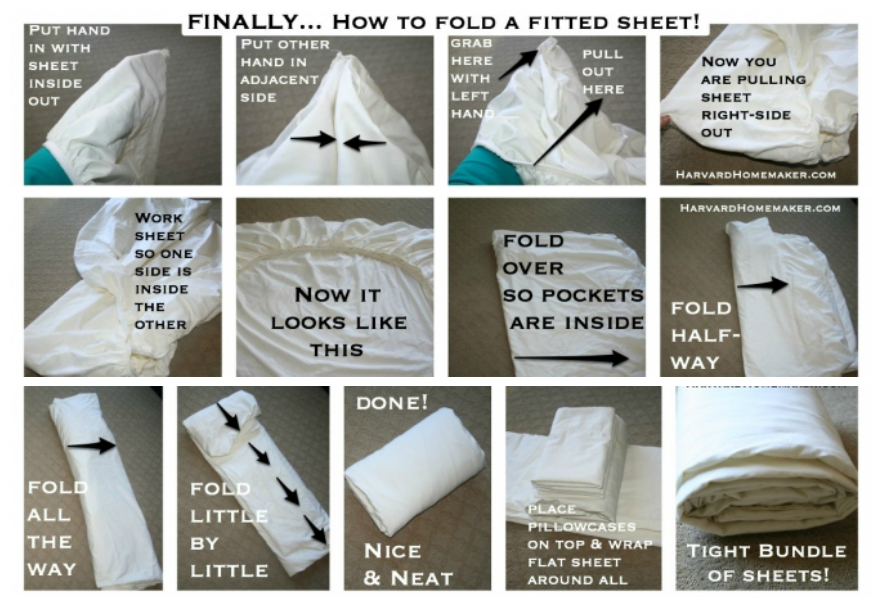 How to Fold a Fitted Sheet Step by Step