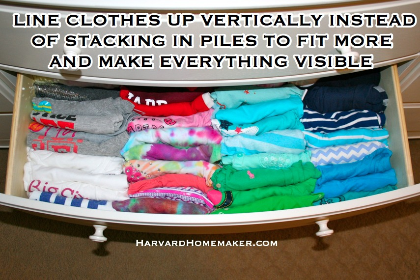 Line Clothes Up Vertically