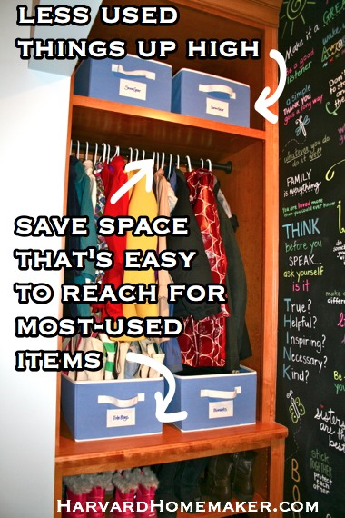 Prime Space for Most Used Items