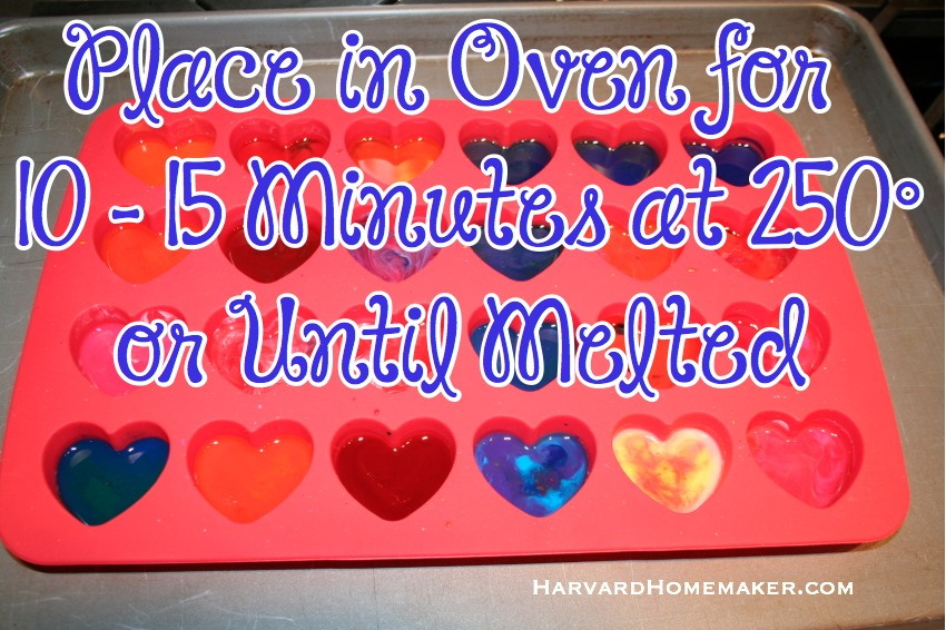 Melted Crayon Hearts_Oven