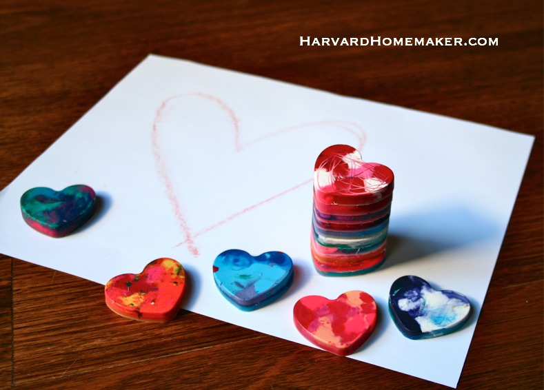 Melted Crayon Hearts_with Paper