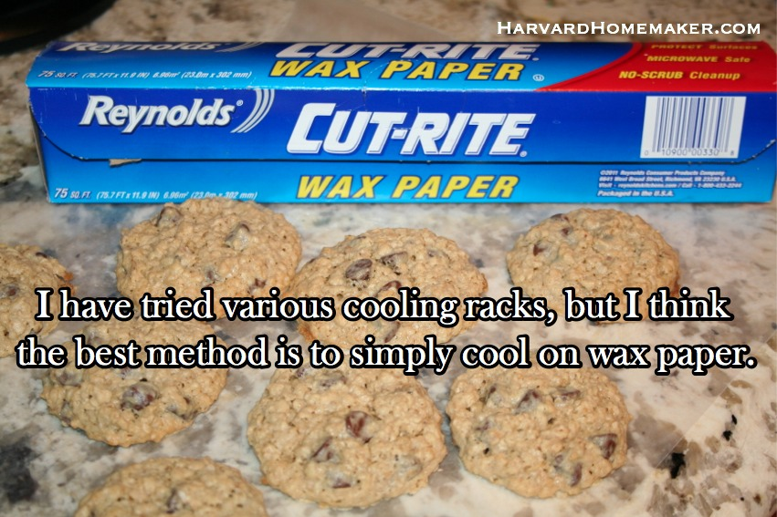 Oatmeal Chocolate Chip Cookies Cool Wax Paper