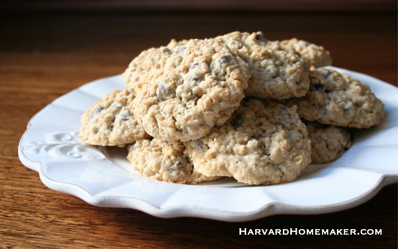 Oatmeal Chocolate Chip Cookies_full plate