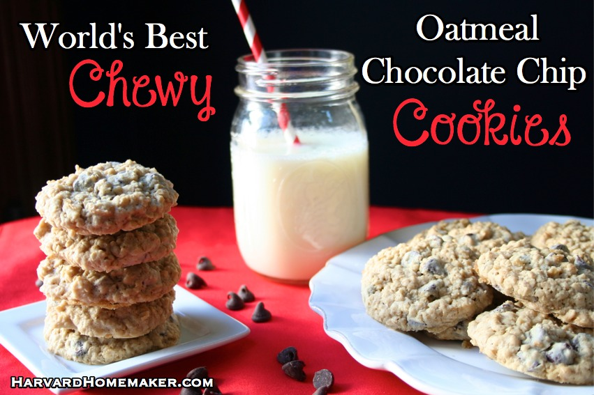 World's Best Oatmeal Chocolate Chip Cookies