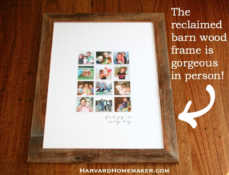 Custom Collage_Reclaimed Barn Wood Frame