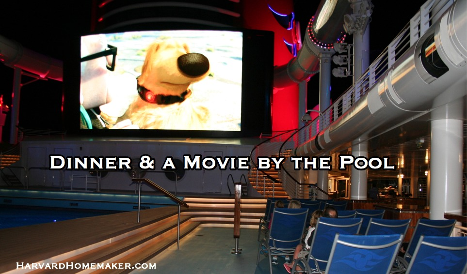 Disney Cruise_Dinner and Movie by Pool