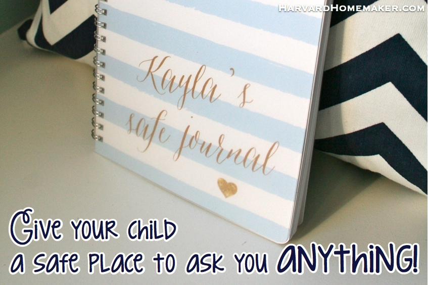 Give your child a SAFE JOURNAL by Harvard Homemaker