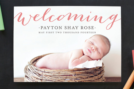 Minted Giveaway_Birth Announcement