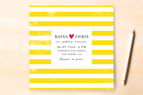 Minted Giveaway_Bold Stripes Wedding Invitation