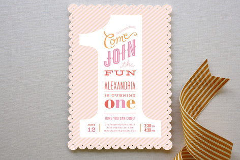 Minted Giveaway_First Birthday Invitation