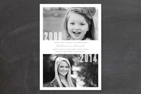 Minted Giveaway_Now and Then Graduation Announcement