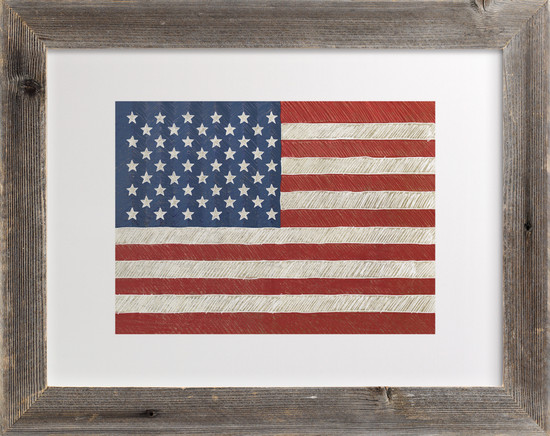 Minted Giveaway_Rustic American Flag Art