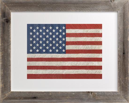 Minted Giveaway_Rustic American Flag Art