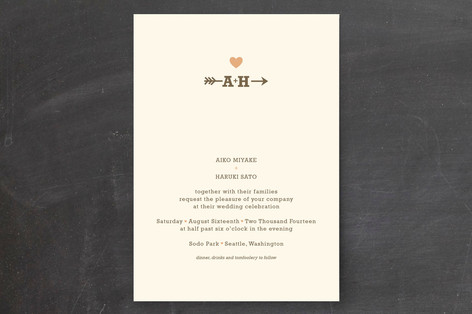 Minted Giveaway_Wedding Invitation Arrow and Heart