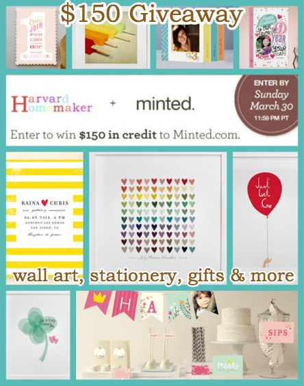 Minted Giveaway_Win 150_enter soon