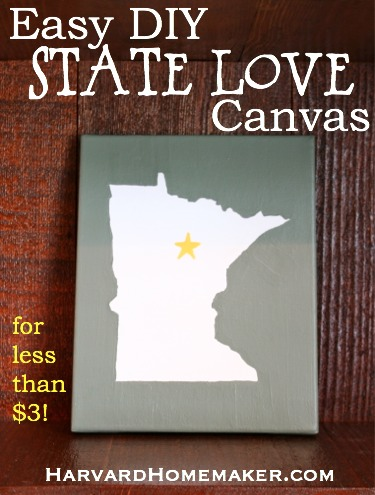 Easy State Love DIY Canvas - Harvard Homemaker