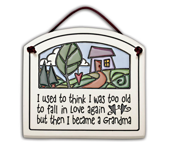 Gifts for Her_I fell in love with my grandchildren plaque