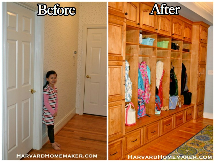 Widen Your Entryway and Add a Wall of Cubbies to Create an Awesome Mudroom! - Harvard Homemaker