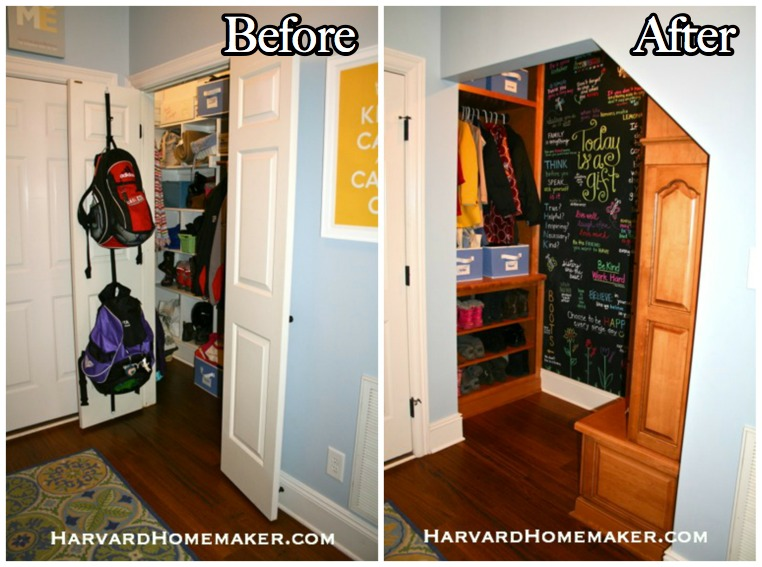 Transform A Closet Under Your Stairs To Create Fun And Functional Mudroom Harvard