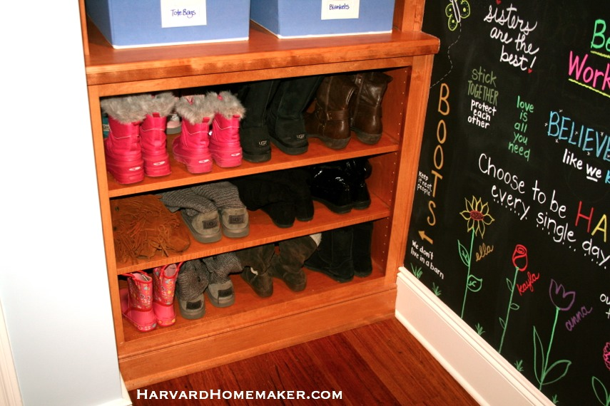 Under Stairs Mudroom_Boots