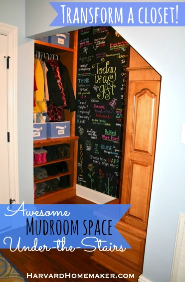 Turn a Closet into a Fun and Functional Mudroom Space! - Harvard Homemaker