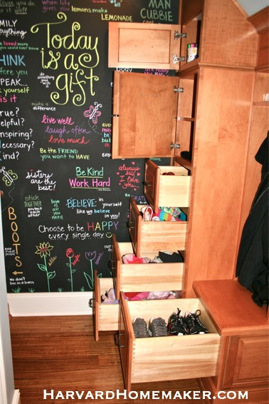 Transform a Closet Under Your Stairs to Create a Fun and Functional Mudroom! - Harvard Homemaker