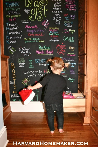 Use Chalkboard Paint to Create a Fun and Inspirational Wall of Quotes! - Harvard Homemaker