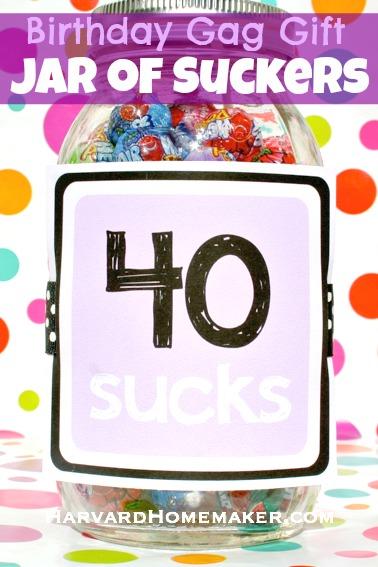 40 Sucks_Birthday Gag Gift Jar of Suckers