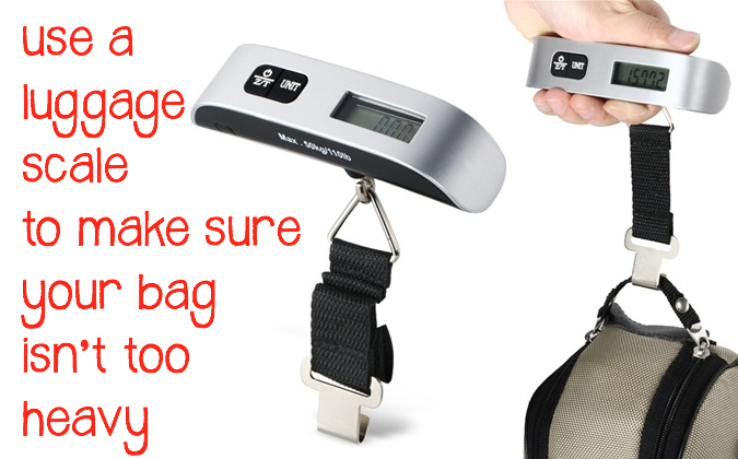 Flying with Baby_Use Luggage Scale