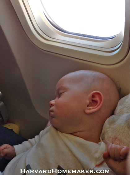Flying with a Baby_Asleep Soon Enough!