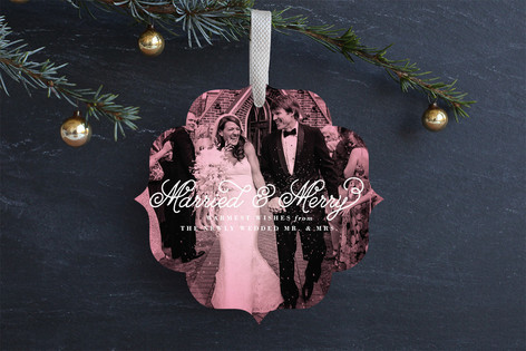 Minted Married ornament