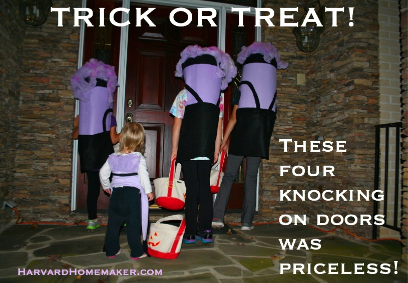 Crazy Purple Minion Costumes from Behind_Trick or Treat!
