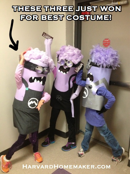 Crazy Purple Minion Costumes_Best Costume!