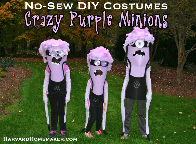 Crazy Purple Minion DIY Costumes